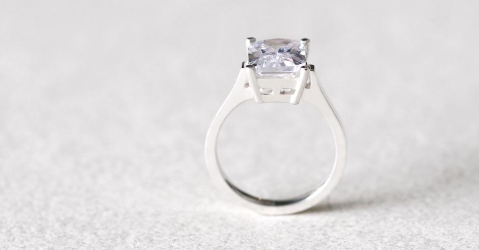 ホワイト スクエア リング 指輪 シルバー925