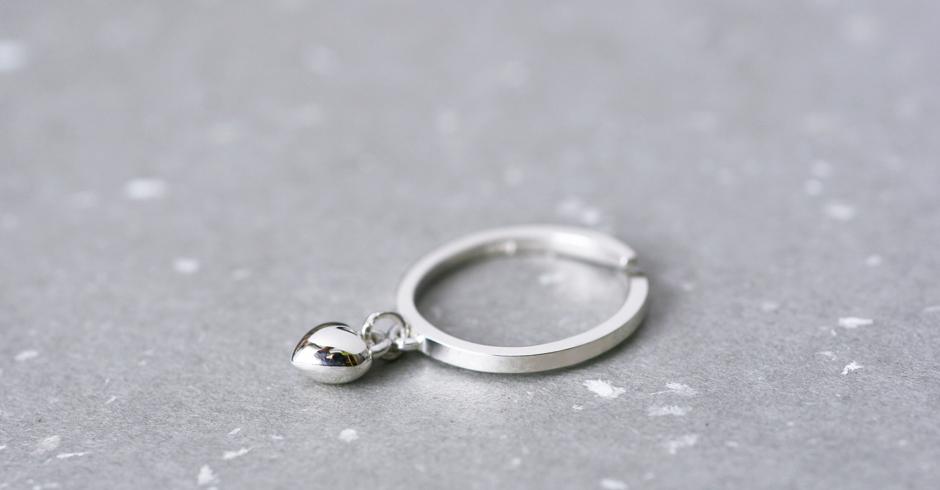 立体 ハート リング 指輪 シルバー925