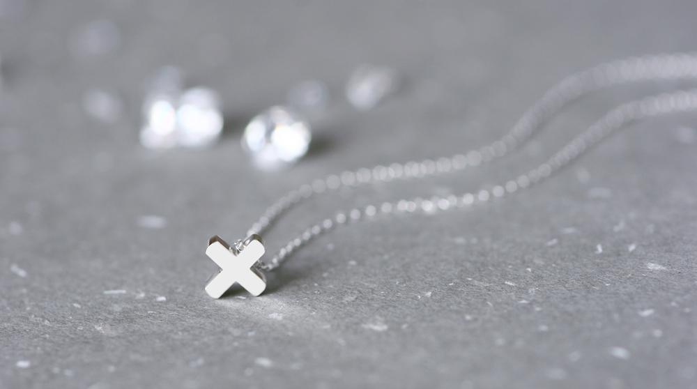 mini 正十字架 ネックレス シルバー925