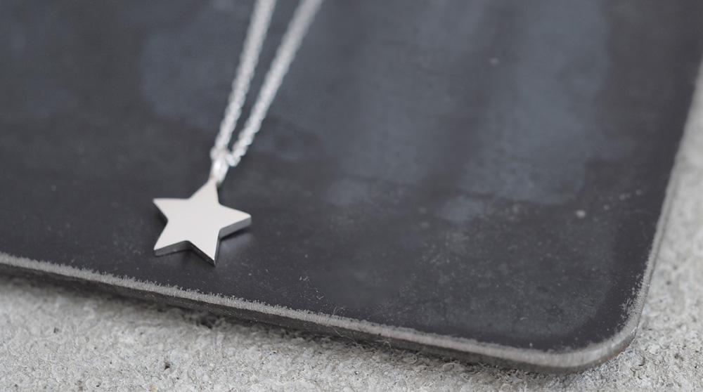 tiny 星 メンズ ネックレス シルバー925