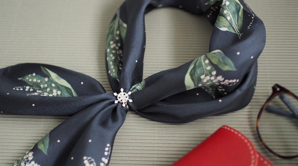雪の結晶 スカーフ リング シルバー925