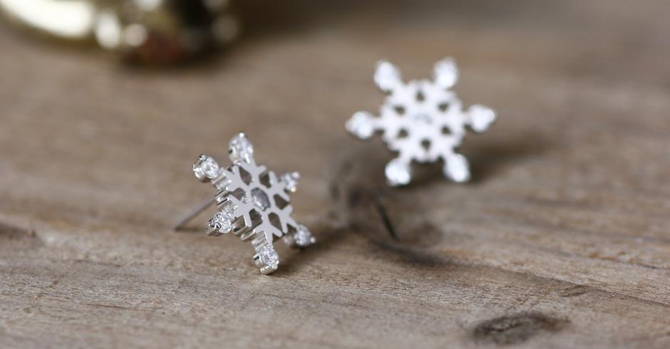 雪の結晶  ピアス シルバー925