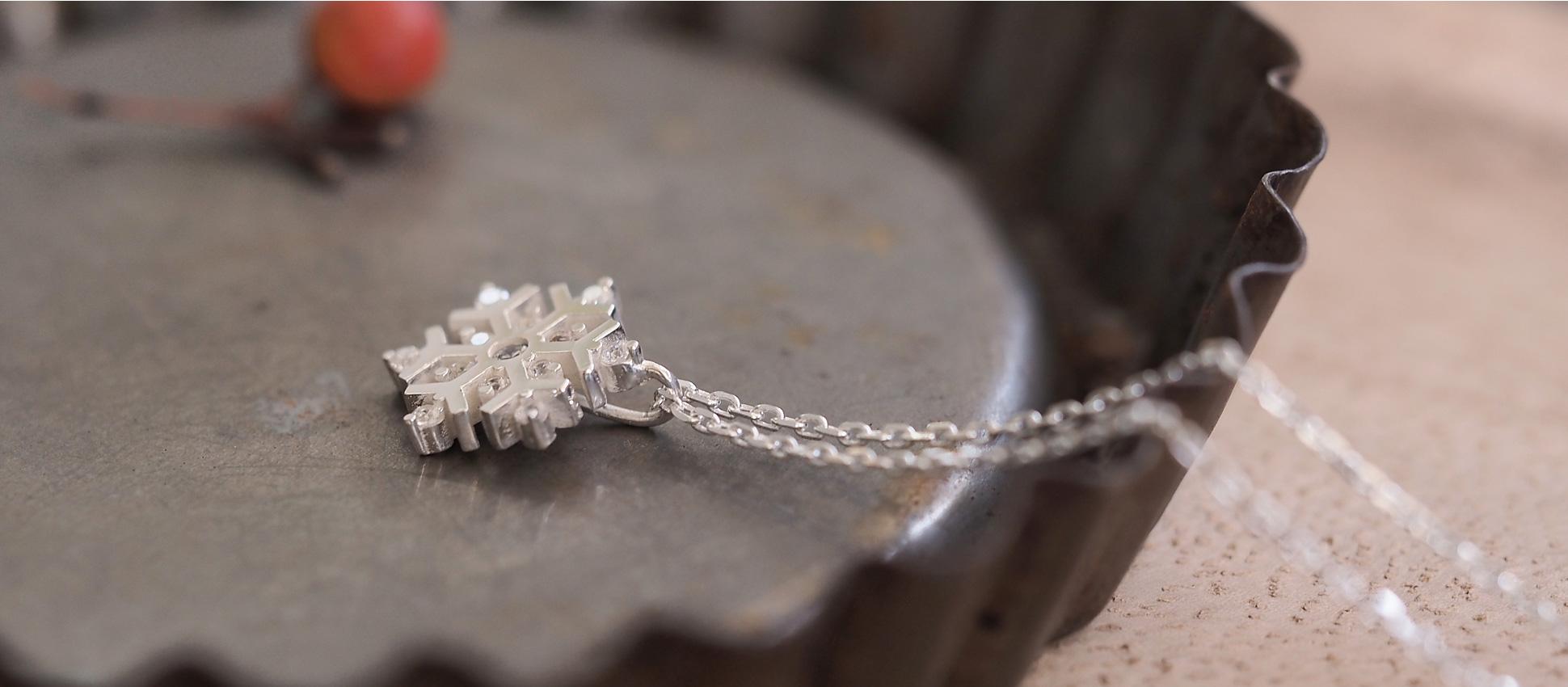 雪の結晶 ペンダント レディース ネックレス sfn-2
