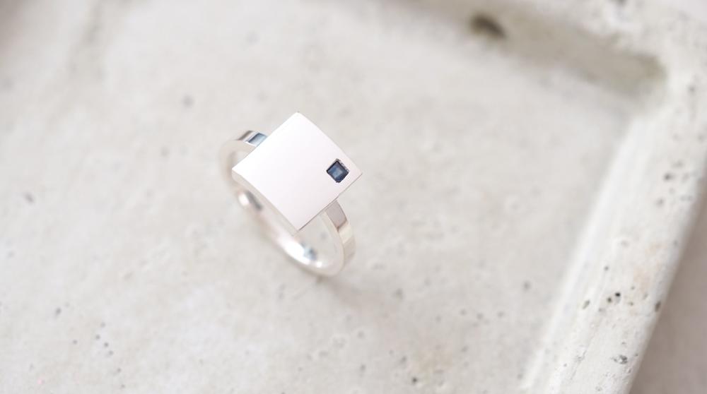 Minimal square ミニマル 四角 リング シルバー925