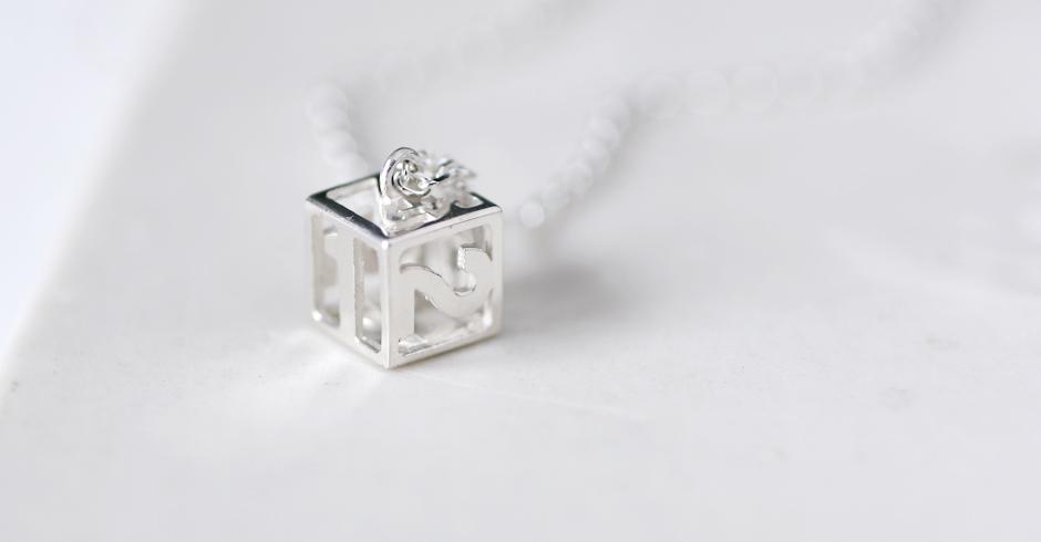 mini サイコロ ダイス ネックレス シルバー925