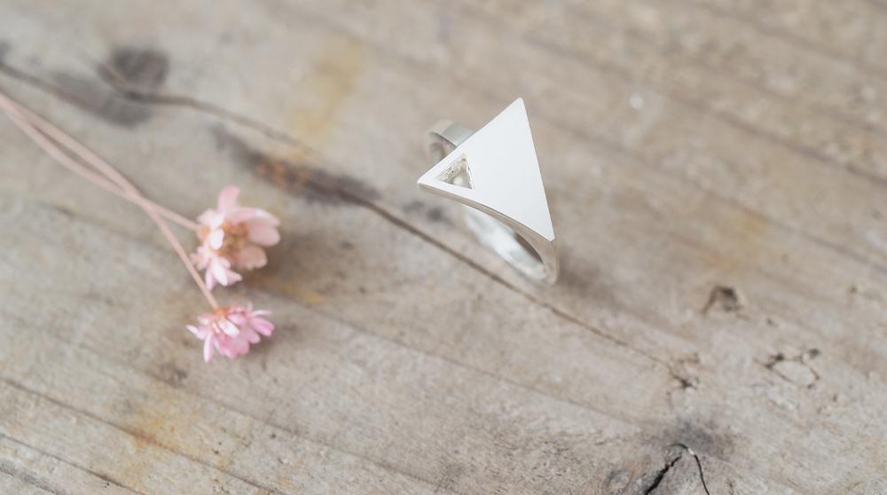 Minimal triangle ミニマル 三角 リング シルバー925