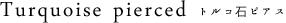 Turquoise トルコ石 ピアス シルバー925