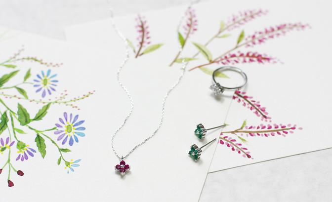 cloud-jewelry Fleur white pendant フルールホワイトペンダント_04