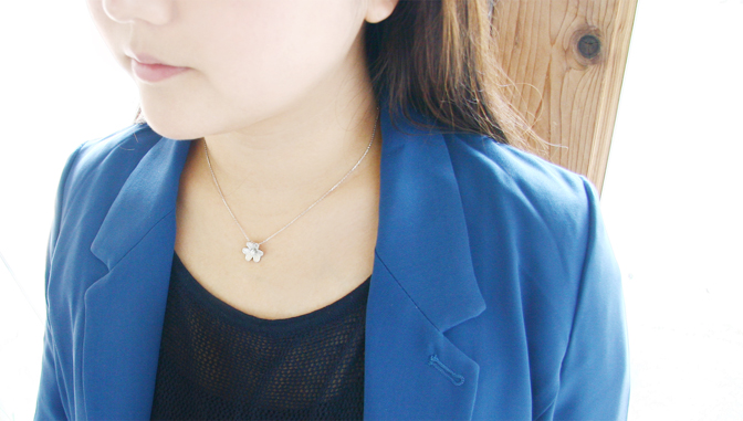 cloud-jewelry White flower pendant ホワイトフラワーペンダント_06