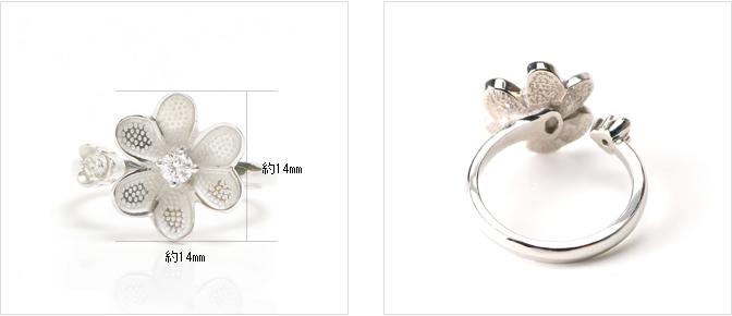 cloud-jewelry White flower ring ホワイトフラワーリング_05