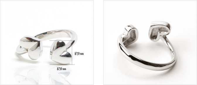 cloud-jewelry Volume heart ring ボリュームハートリング_04