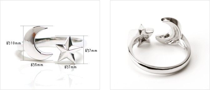 cloud-jewelry Half moon & star ring 月と星リング_04