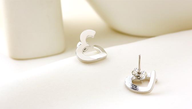 cloud-jewelry Open heart pierce オープンハートピアス_02