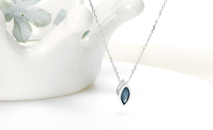 cloud-jewelry Blue spphire pendant ブルーサファイアペンダント_01